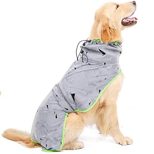 ETOPARS Poncho Riflettente per Cane, Poncho Antivento per Animali Domestici per Cani di Taglia Grande, Cappotto per Cani Impermeabile