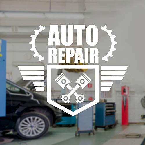 yuandp autoreparatur wandtattoo autoservice logo vinyl interieurdecoratie raam sticker garage wandafbeelding afneembaar behang 42x35cm