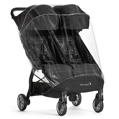 Baby Jogger 2087249 Wetterschutz für City Tour2 Zwillingswagen, hält Regen, Schnee und Wind ab, schwarz