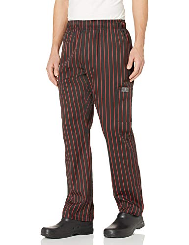Chef Code Chef Pants, Chalkstripe Red, Medium