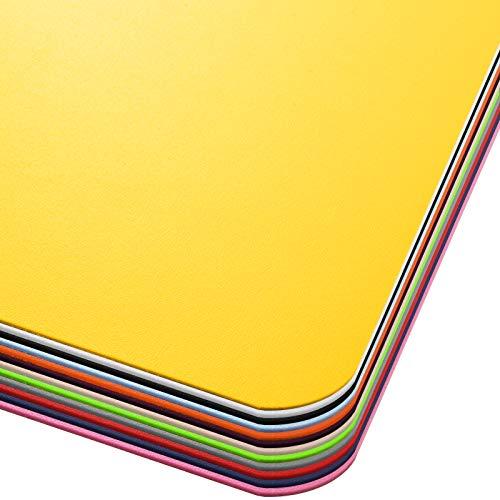 Office Marshal® Bodenschutzmatte in Trendfarben | 75 x 120 cm für Hartböden | ohne schädliche Weichmacher und PVC | Größe und viele Farben zur Auswahl (Gelb)