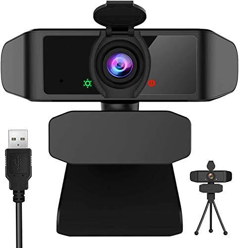 2K Webcam 1440P Full HD con Micrófono Y Cubierta de privacidad, USB Web Camera con trípode, para Mac Windows Portátil Videollamadas Conferencias Juegos Plug y Play, Cámara Web para Skype