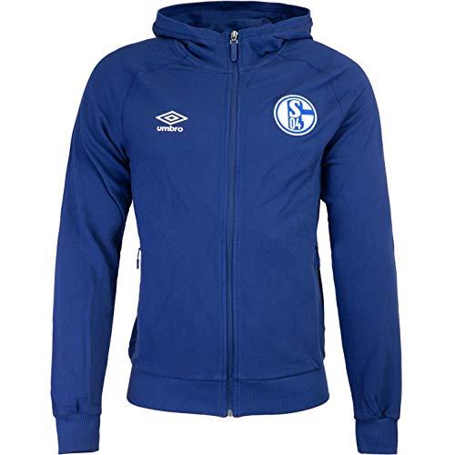 UMBRO FC Schalke 04 - Sudadera con capucha y cremallera (talla XL), color azul marino