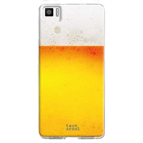 Funnytech® Funda Silicona para BQ Aquaris M5 [Gel Silicona Flexible, Diseño Exclusivo] Cerveza sin Frase