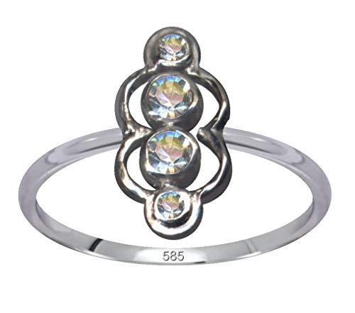 Jugendstil Goldring Diamant Ring Echt 585 Weißgold Liebe Glaube Hoffnung Emotion Symbol Motiv Stil Objekt extravagant exklusiv neu gut schön modisch weiss klar transparent