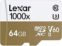 Lexar Professional 1000x microSDXC 64GB UHS-II/U3 (Up to 150MB/s Read) W/USB 3.0 Reader Flash Memory Card LSDMI64GCBNL1000R by Lexar