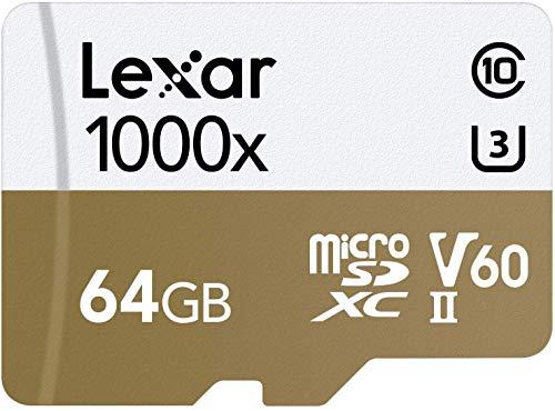 Lexar Pro microSDXC 64GBG 1000X 5A992 RDR BL in