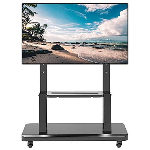 Supporto TV da pavimento Carrello TV Soporte Suelo TV para Centro Entretenimiento, Carro TV Estilo Moderno para televisores LCD LED 32/42/45/50/55/60/65/70/75 Pulgadas, Altura Ajustable