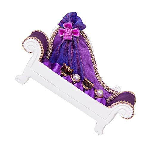 Homoyoyo Pendientes de Anillo Bandejas de Exhibición Sofá Forma de Sofá Soporte de Exhibición de Joyas Escaparate Organizador de Joyas Collar Organizador para Mujeres Hogar Decoración