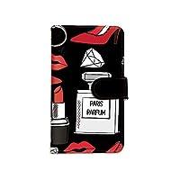 [bodenbaum] LG Style3 L-41A 手帳型 スマホケース カード ミラー スマホ ケース カバー ケータイ 携帯 LG エルジー エルジー スタイルスリー docomo リップ 香水 ダイヤ ハイヒール a-006 (A.ブラック)