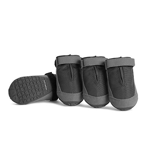 Ruffwear Hunde Schuhe zum täglichen Gebrauch (4er Set), Wetterfest, Sehr große Hunderassen, Größe: 83 mm, Grau (Twilight Grey), Summit Trex, 15401-025325