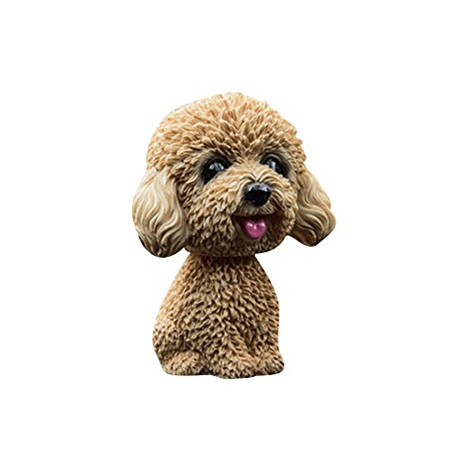 dewdropy Car Nodding Dog Doll Cute Dog Ornaments Shaking Bobble Head Bobbing Head Dogs Puppy Car Interior Dashboard Decoration Creative Gifts For Car Home Desk Docoration