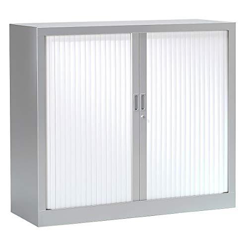 Armoire Monobloc à rideaux | Aluminium | Blanc | 1000 x 1200 x 430 | Certeo