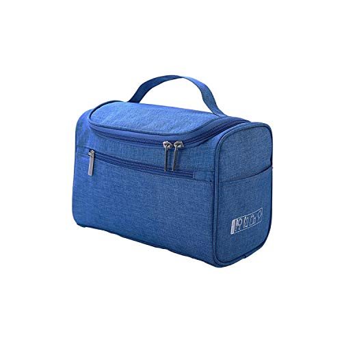 Sac Cosmétique De Voyage | Cosmetic Bag Double Zipper Women Cosmetic Case Travel Organizer Portable Esthéticienne Essential Ladies Makeup Bags Package-blue-