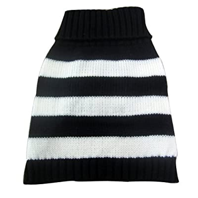 Turtleneck Stripes Pet Clothes Dog Wool Classic Sweaters