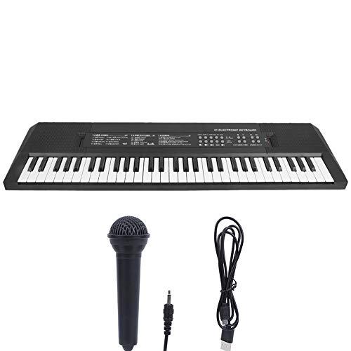 Teclado Eléctrico para Niños, Teclado de Piano de 61 teclas con Micrófono,...