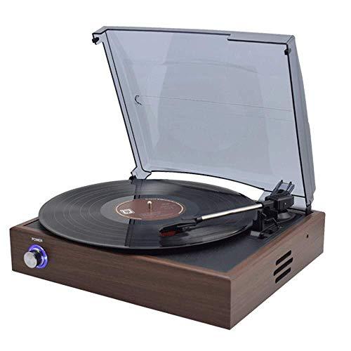 CAIJINJIN Estatua Disco de vinilo jugador moderno retro del hogar Bluetooth Reproductor de CD gramófono antiguo registro de LP de DVD incorporado en los altavoces Continental elegante y hermosa