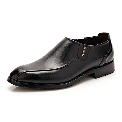 no-branded Hombres de Negocios Formales Oxfords Mate Cuero PU Parte Superior Slip-on Soft Sole Mocasines Calzado de conducción JZJZJEU (Color : Negro, Size : 10 MUS)