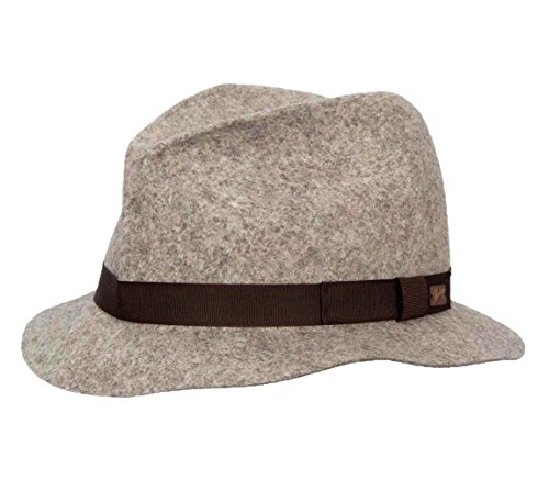Bailey of Hollywood - Chapeau Trilby Pliable Feutre Homme ou Femme Dean (Pliable) - Taille L - Marron-Clair
