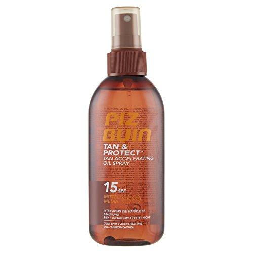 PIZ BUIN TAN & Protect Tan accelerating Oil Spray SPF 15/Media Protezione/braeunung beschl eunig endes Olio Spray per una più veloce, Abbronzatura Nat