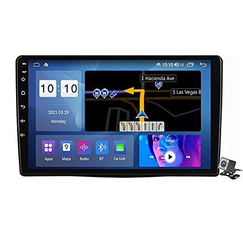 Android 10.0 Autoradio Sat Nav Radio per Fiat 500L 2012-2017 Navigazione GPS 2 Din 9''Head Unit Lettore multimediale MP5 Ricevitore video con 4G FM DSP WiFi SWC Carplay