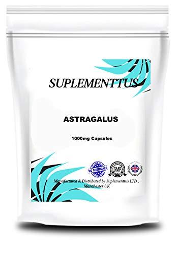 Astragalus 1000mg Capsules Natural Supplement - Suplementtus UK Manufactured (30)