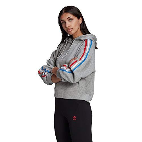 adidas GN2855 Hoodie Sweat Womens Medium Grey Heather 46
