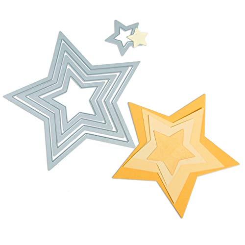 Sizzix Framelits Die Stars, 5er-Set, mehrfarbig