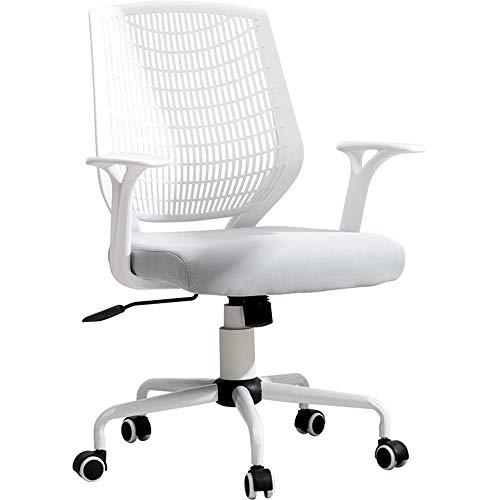 Comif-Chaise de bureau rotative réglable, Chaise de Bureau en PC, Section inclinable à 120 °, Coussinet éponge Original, Certification BIFMA/SGS (Blanc)