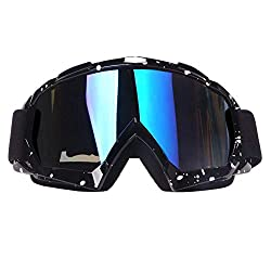 off Road Racing Cycling Riding Motorbike Goggles over Glasses UV Protection Dustproof Windproof Anti-Scratch Protective Glasses G4Free ATV Motocross Goggles Dirt Bike Motorcycle Goggles for Adult