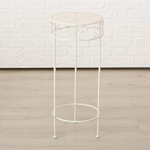 Meinposten. Hoher Beistelltisch weiß Metall Telefontisch Pflanzentisch Blumenständer Tisch (Großer Tisch: 30 x 70 cm)