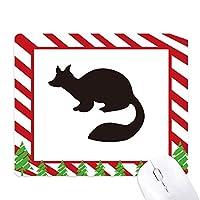 黒テンの動物の描写 ゴムクリスマスキャンディマウスパッド