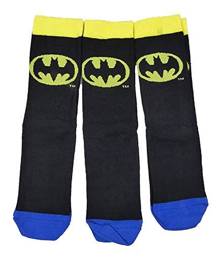 Character Socks Herren Drei Pack Great Auswahl Arten - Batman, 9-11 Herren Schuhgröße