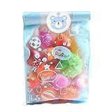 jkfui Exquisite Kaninchen Klebebeutel Kekse DIY Geschenkbeutel für Weihnachten Geburtstagsparty Candy Food &Handgefertigte Seifenpapier Taschen(None Blue 8 + 5 x 22)