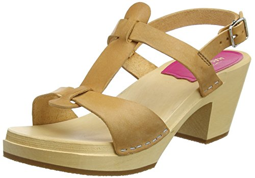 swedish hasbeens Damen Greek Sandal Clogs, Nature, 40 EU