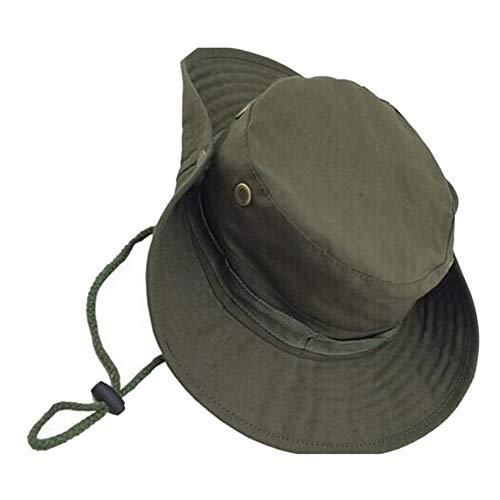 Fablcrew Chapeau de Soleil Homme Pliable Ete Anti UV Chapeau de Pêcheur pour Les Voyages Randonnée Camping Pêche