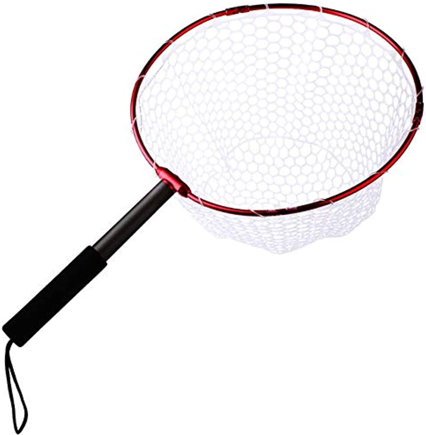 Foldable Fly Fishing Net Brail Red Soft Rubber Landing Net 65.5x40x27cm Handle Fly Cheap Fishing Nets Fishing Accessories   GD012