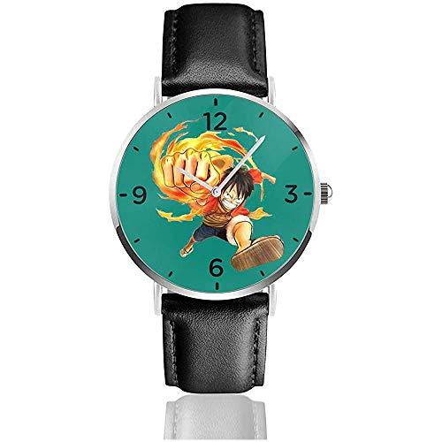 Relojes de Pulsera One Piece-Monkey D con Correa de Cuero de PU