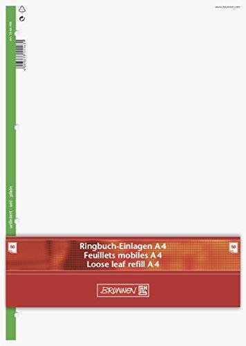 Brunnen 1066900 Ringbucheinlagen A4 (blanko, 50 Blatt, 70 g/m²)