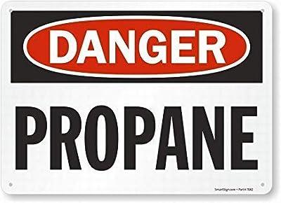 Willianen Plaque Murale en Aluminium avec Inscription « Fashion Danger: Propane for Property » pour intérieur ou extérieur 19,8 x 30 cm, W43, 7.8X11.8 inch