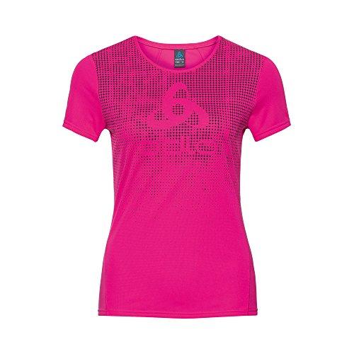 Odlo Shirt S/S Crew Neck Shaila Camiseta, Mujer, Rosa (Pink GLO with...