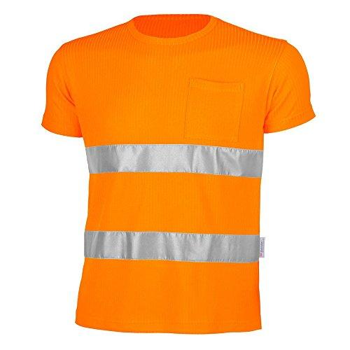 Qualitex T-shirt de signalisation conforme à la norme EN 471 75 % EPS/25 % viscose M - WARNORANGE