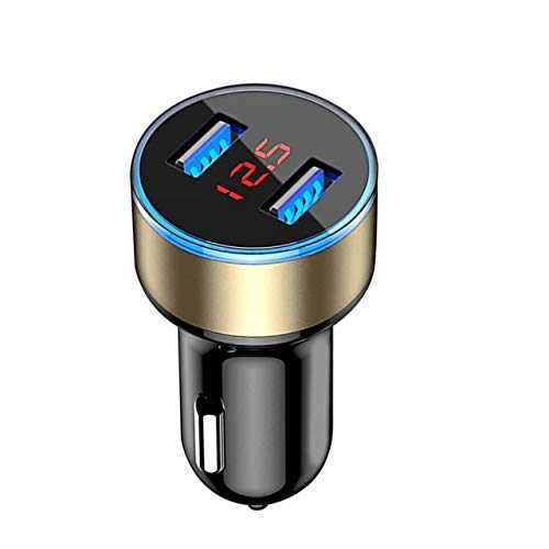 Xsy 3.1a Mini Usb Car Charger for Fast Charger Car Charger Dual Usb Car Phone Charger Adapter Gold