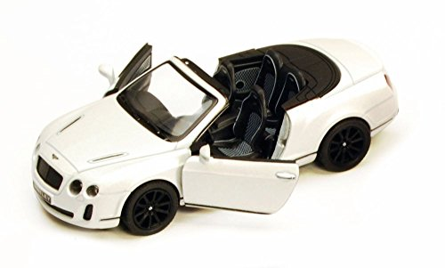 2010 Bentley Continental Supersports Convertible, White - Kinsmart 5353D - 1/38 Scale Diecast Model Toy Car, but NO Box