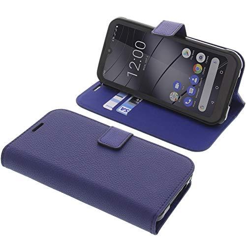 foto-kontor Tasche für Gigaset GX290 Book Style blau Schutz Hülle Buch