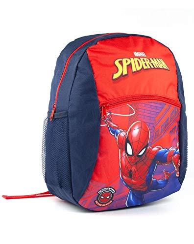 Marvel Spider-Man-Jungen-Kindes Rot/Blau Polyester-Schule-Rucksack-Rucksack (One Size)