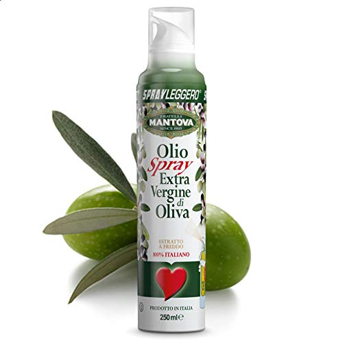 Mantova SprayLeggero 100% Extra Virgin Olivenöl Kochspray ohne Treibmittel