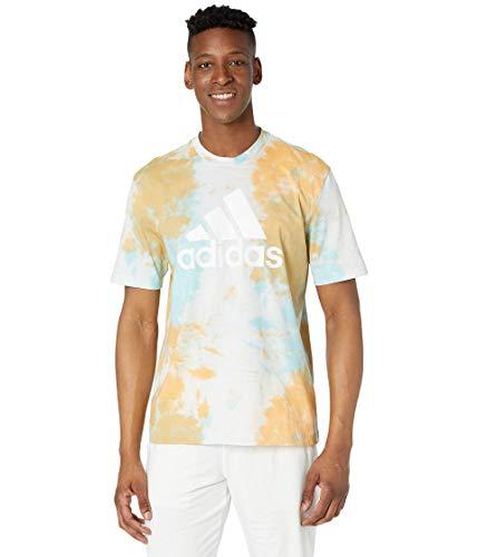 adidas Mens Essentials T-Shirt Hazy Orange/Hazy Sky/White Medium
