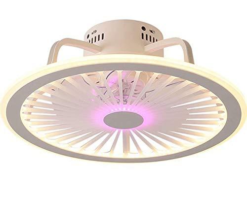 Ventilador de techo ultrafino, luz de ventilador silenciosa,ventilador de techo LED regulable con iluminación para dormitorio,restaurante,lámpara de luz colgante ligera de 2 kg,control remoto