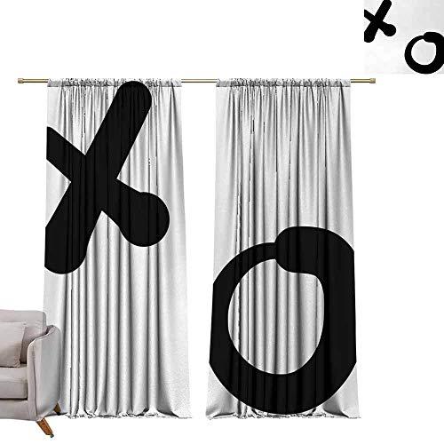 Tr.G verduisteringsgordijnen 2 panelen Rod Pocket gordijnpanelen voor slaapkamer & keuken Xo, knuffels en kussen Valentijnsdagen Geïnspireerd achtergrond Vintage stijl viering beeld, goud en wit
